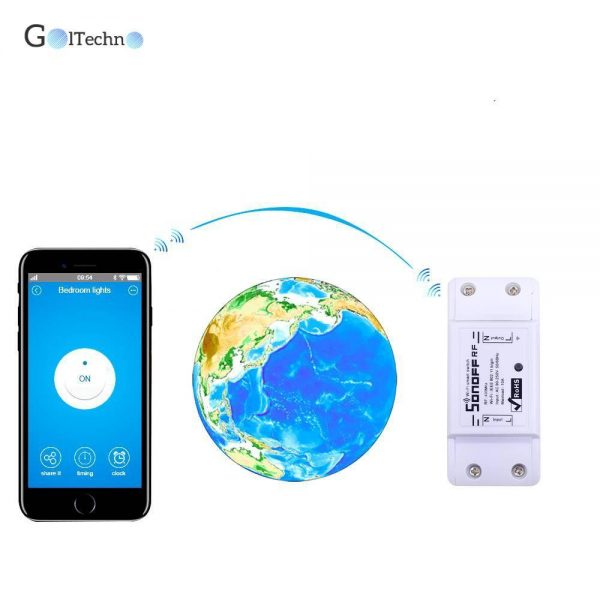 Wi-Fi Power Switch with RF Remote Controller Automation & Remote Controls Smart Home Systems