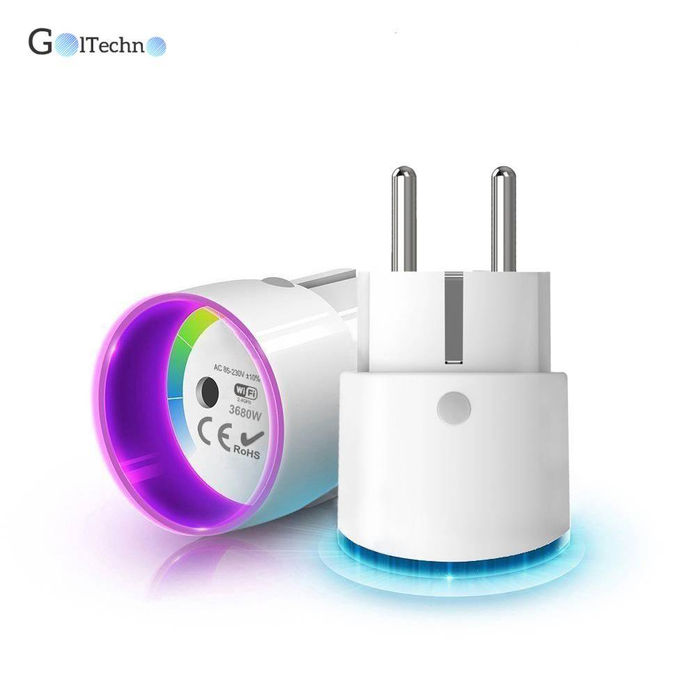 Round WiFi Smart Plug with Light Smart Home Systems Wi-Fi