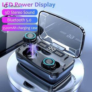 LED Bluetooth Wireless Earphones Headphones Earbuds Touch Control Sport Headset Noise Cancel Earphone Headphone